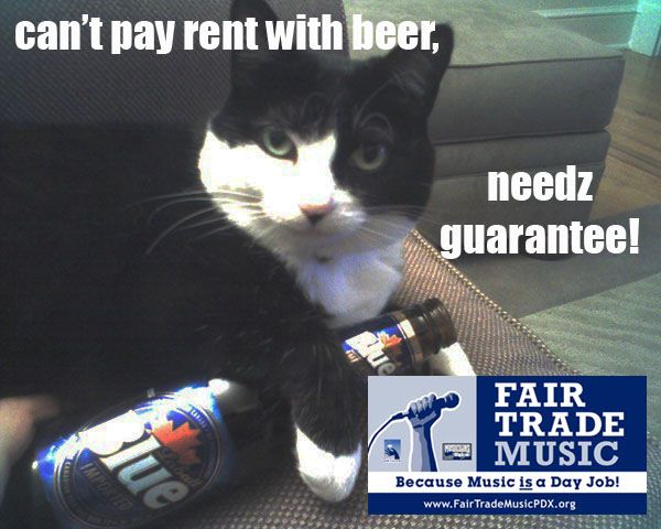 Can't pay rent with beer
